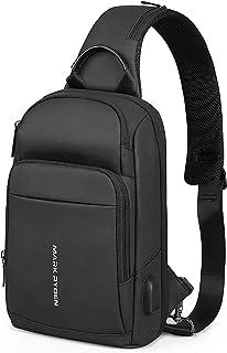 MARK RYDEN Bolso de hombro antirrobo bandolera en el pecho mochila cruzada impermeable mochila informal ligera para iPad d...