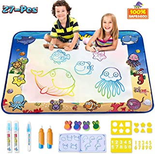 CPSYUB AquaDoodle Mat,Large Size 40x28 inches Kids Toys with Colorful Aqua Magic Mat&Water Drawing