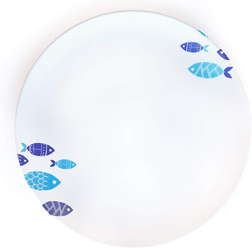 Aquaterra Living Ecofriendly Salad Plate Set With Fish Designs Set Of 6 7 Indoor Or Outdoor Plates