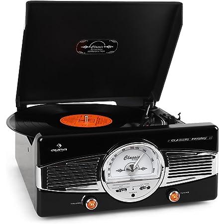 Auna Mg Tt 82 Vintage Turntable Analogue Black Elektronik