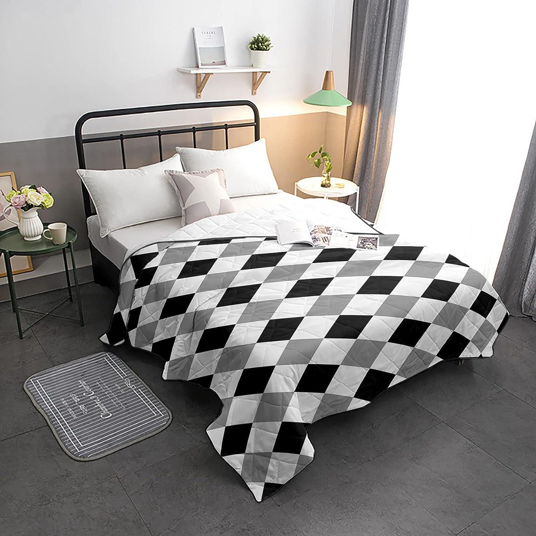 Down Alternative Comforter Classic Lattice overseas Max 74% OFF Farm Diamond Reversib