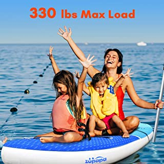 Zupapa 2019 Upgrade Inflatable Stand Up Paddle Board 6 Inch Thick 10 11 FT Kayak Convertible All Accessories Included