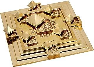 RUDRADIVINE Maha Vastu Purush Navgrah Pyramid Yantra 9 x 9 inch/Ashtdhatu Navgrah Pyramid Yntra Chowki with Removable Pyramid