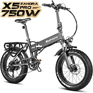 Eahora AM100 Plus X5 Fat Tire Folding Electric Bicycle