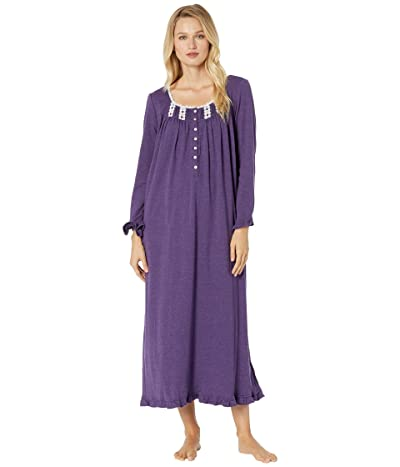 Eileen West Interlock Long Sleeve Ballet Nightgown (Violet Heather) Women