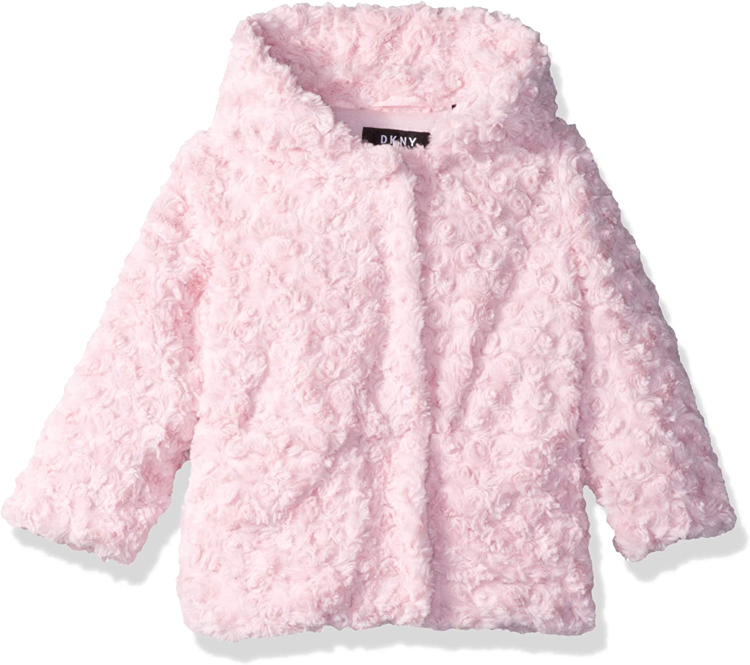 DKNY Baby Girls Faux Fur Jacket with Hood