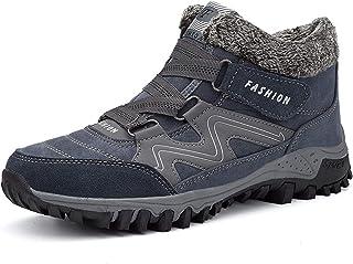ERHETUS Chaussures de course pour homme - En polaire chaude et imperméable - Pour la randonnée - Pour homme et femme