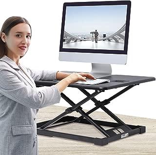 JENOSWEIN Standing Desk Converter with Height AdjustableSitto Stand Gas Spring26 inch MonitorRiser Tabletop Workstation
