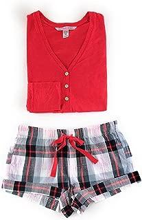 Victoria's Secret Henley Flannel Short Pajama Set