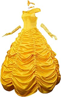 MAKELIFE Women Princess Dress Lace up Ball Gown Long Prom Dresses Costume Gloves