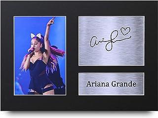 HWC Trading Ariana Grande A4 Sin Marco Regalo De Visualización De Fotos De Impresión De Imagen Impresa Autógrafo Firmado por Aficionados A La Música