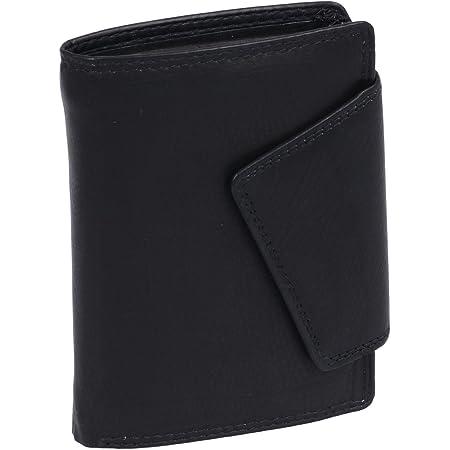 LEAS Damenbörse im Hochformat mit RFID Schutz Echt-Leder, schwarz Ladies-Collection''