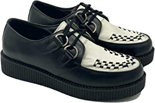 Men Casual Creepers Shoes Brothel Lace Up Suede Upper Leather Chunky Sole Boots