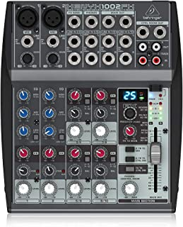 Behringer Xenyx 1002FX Premium 10-Input 2-Bus Mixer with XENYX Mic Preamps, British EQs..