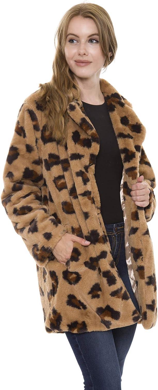 Animal Skin Patterned Women's Max 59% OFF Winter Spring Fur Open Faux Fashion Warm F