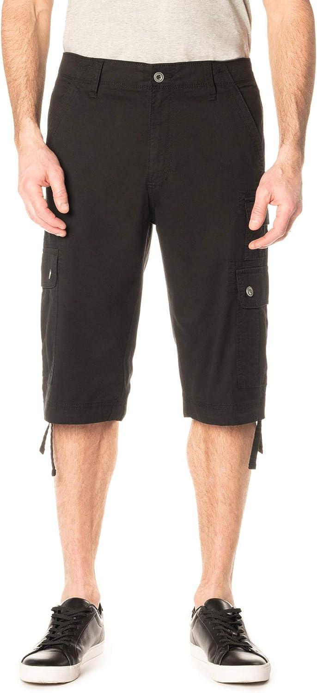 George Clothing Men's Below The Knee Messenger Cargo Shorts