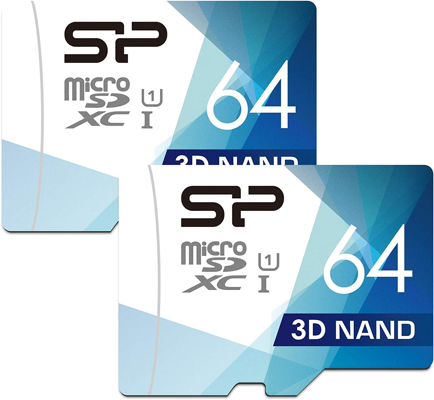 Silicon Power 64gb Micro Sd Card With Adapter Dual Pack Computers Accessories
