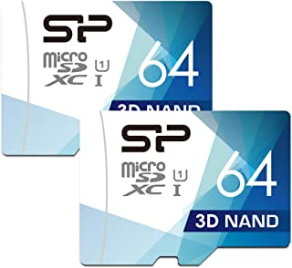 Silicon Power 64GB Dual Pack High Speed MicroSD Card with Adapter