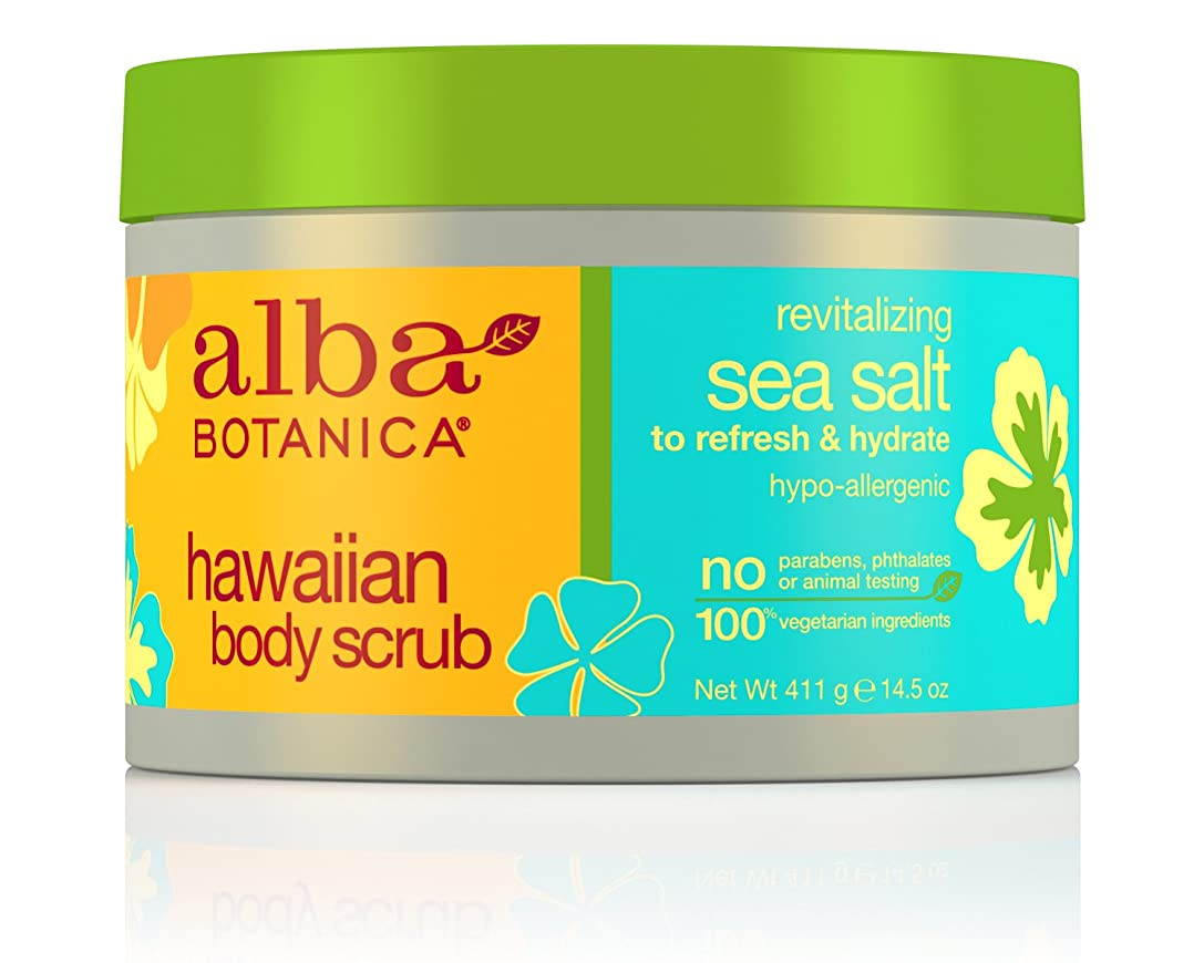 発表発見する天窓Alba Botanica, Sea Salt Body Scrub, 14.5 oz (411 g)