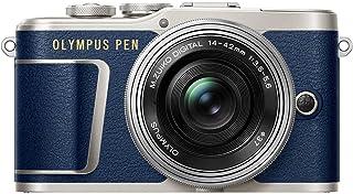 Olympus PEN E PL9 Kompakte Systemkamera (16 Megapixel, 3 Zoll Display, elektronischer Zoom, 4K, Wifi + 14 42 mm Pancake) blau/silber