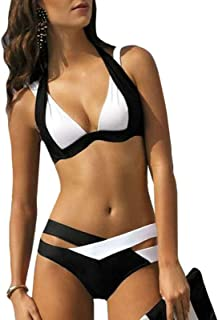 Gaorui Women's Summer Sexy Retro Multicolor Push-Up Bikini Set Swimsuit Swimwear Beach