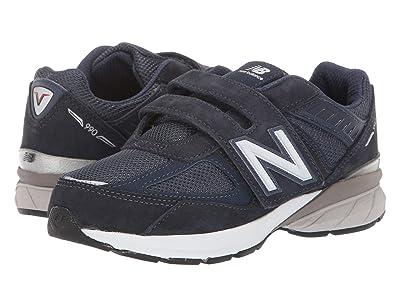 New Balance Kids 990v5 (Little Kid) (Navy) Kids Shoes