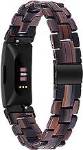 Jennyfly Band per Fitbit Inspire 2, cinturino di ricambio in resina per donne e uomini con fibbia in acciaio inox, regolab...
