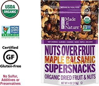 Made In Nature Organic Maple Balsamic Nuts Over Fruit, 4oz (6-Pack) - Non-GMO Dried Fruit and Nut Super Snack