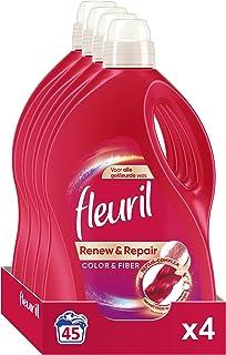 Fleuril Color & Fiber, Vloeibaar Wasmiddel, Gekleurde en Bonte Was, 180 (4x45) Wasbeurten