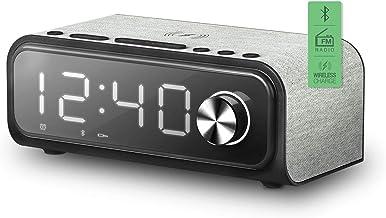 Energy Sistem Clock Speaker 4 Wireless Charge (Dual Alarm, 10 W, Carga inalámbrica, Radio FM, Bluetooth, USB/microSD MP3)