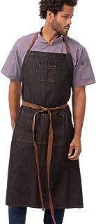 Chef Works Unisex Memphis Chefs Bib Apron, Black, One Size