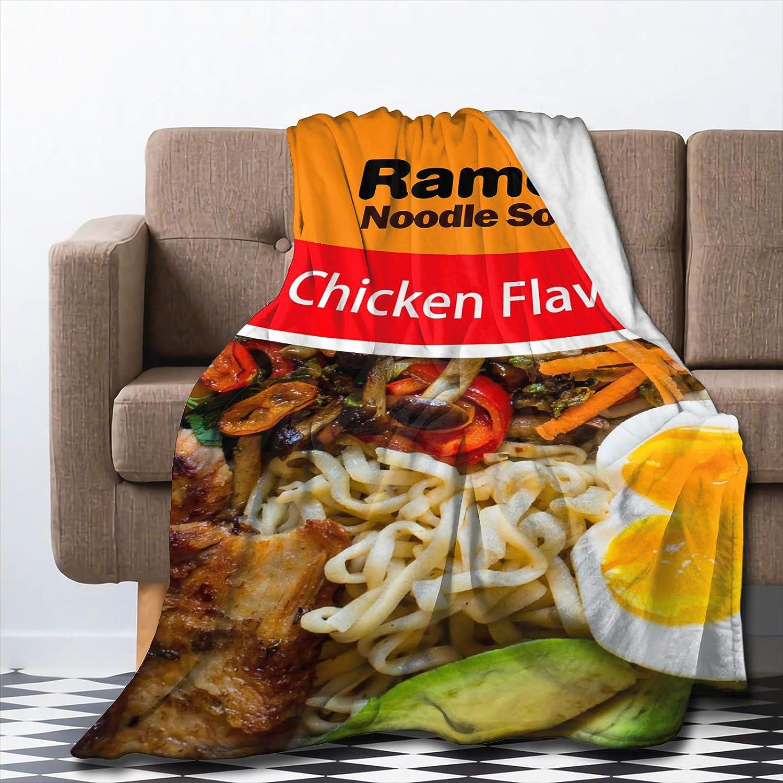 Roslint Soft Superior Lightweight Blanket Ramen Chicken Soup Noodle Flavo Fashionable
