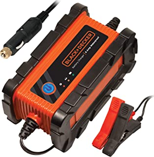 BLACK+DECKER BC2WBD Fully Automatic 2 Amp 12V Waterproof Battery Charger/Maintainer with Cable Clamps
