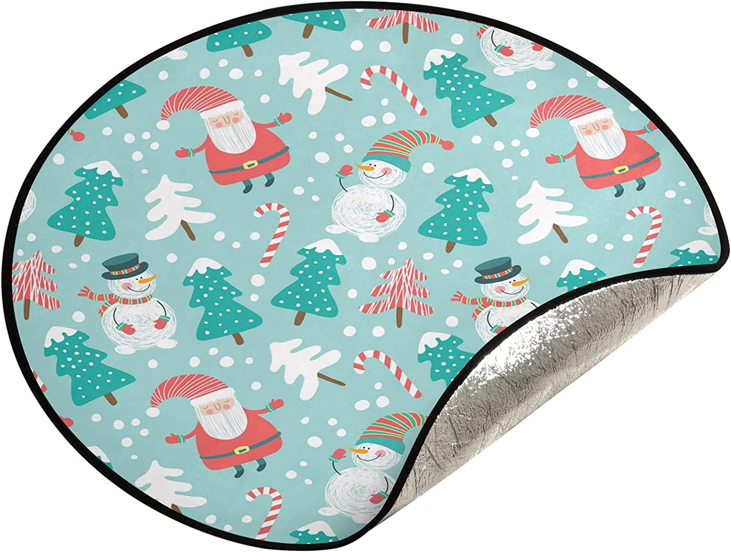 xigua 28.3 Inch Opening large release sale Christmas Tree Merry Stand Mat shop Snowm -
