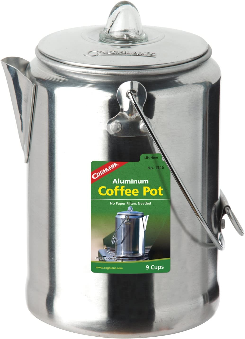 Coghlan's Al sold out. 9-Cup Aluminum Silver Pot Kansas City Mall Coffee