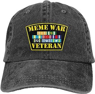 Meme War Veteran - Retro Denim Baseball Hat Trucker Hat Dad Hat Adjustable