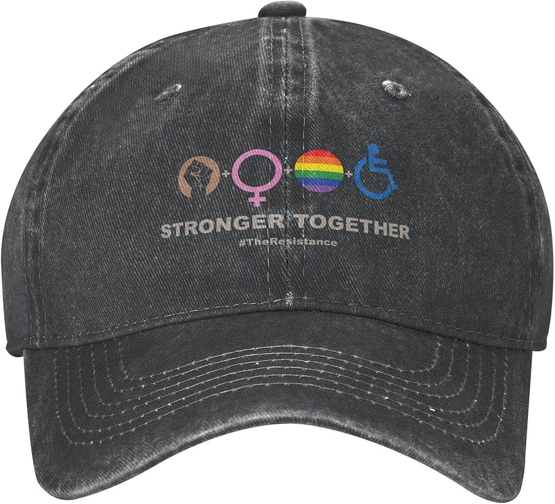 LGBT Gay Rainbow Hat,Love is Love Gay Pride Denim Cap Dad Hat Adjustable Baseball Hat-for Women and Men