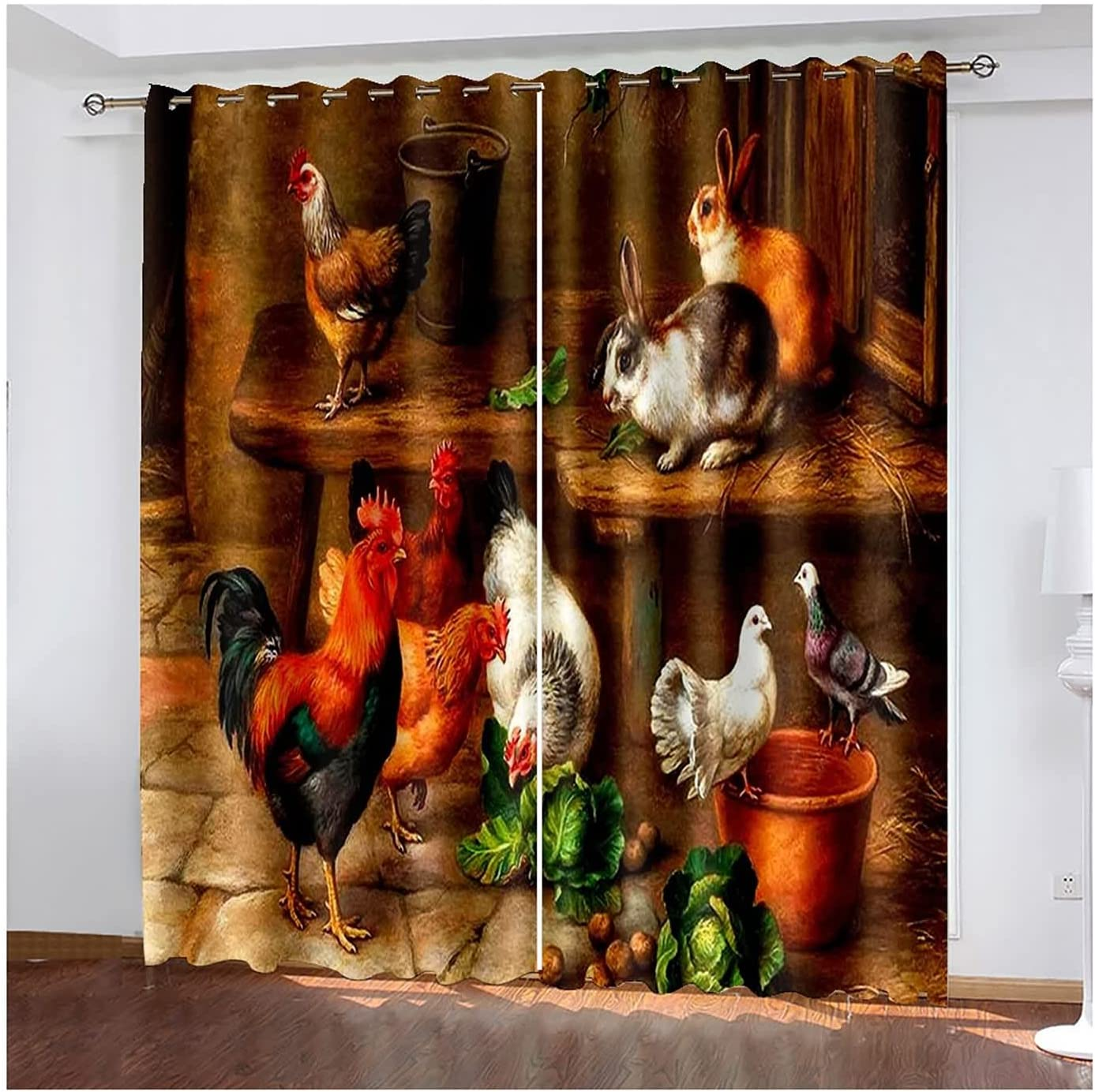 Room Courier shipping Cheap SALE Start free Darkening Curtains 2 Panels Bedroom Modern Chicke