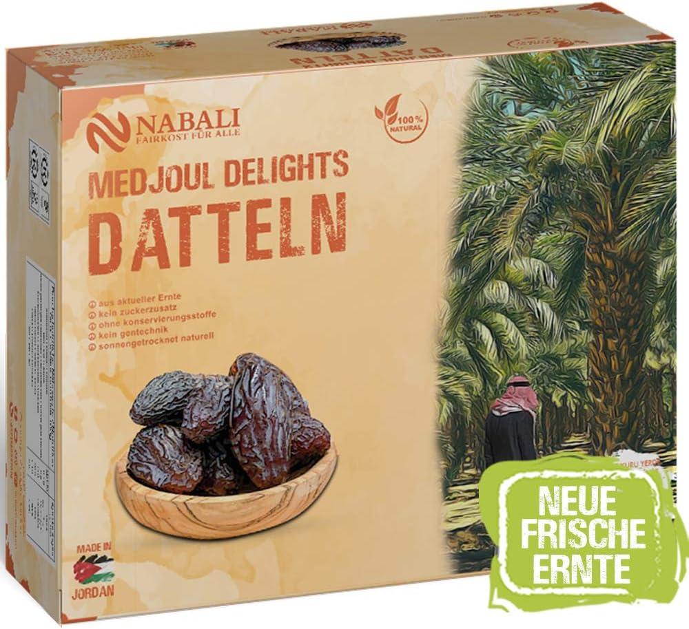 NABALI FAIRKOST Medjoul Dates Delight de Jordania I 100% natural aromático oriental y vegano I Dátiles medjool sin conservantes miel dulce y caramelo (1 kg)