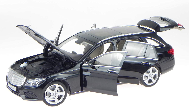Mercedes S205 C-Klasse T-Modell Exclusive schwarz Modellauto Norev1 18