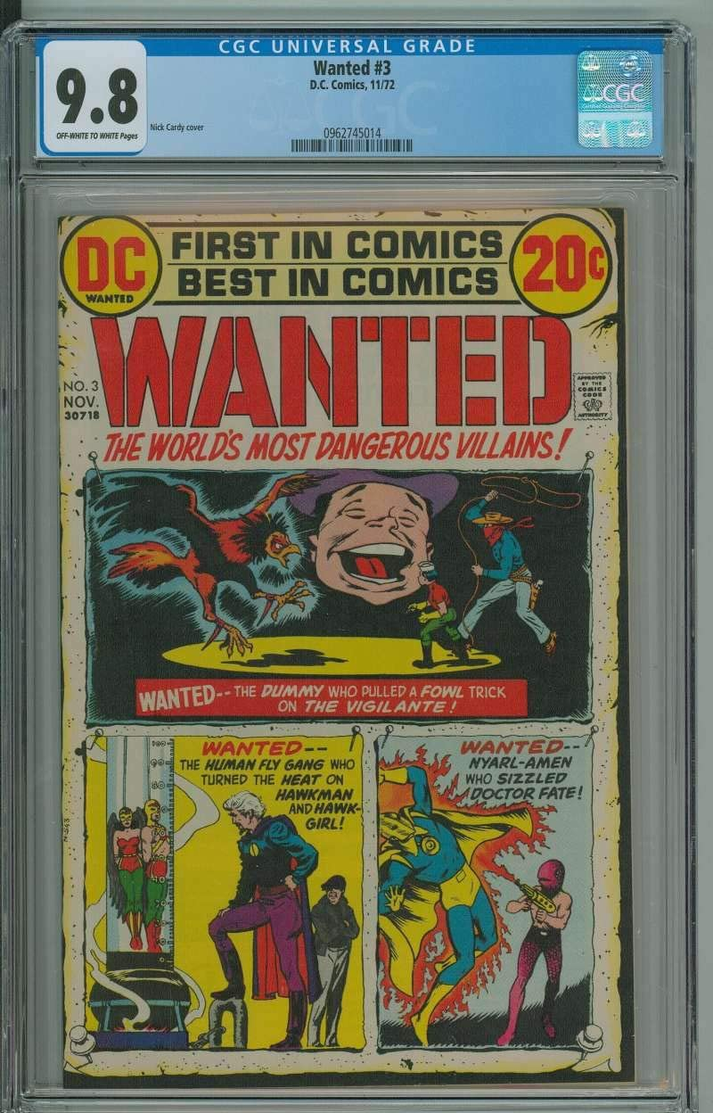 WANTED #3 CGC 9.8 OW WH Limited time for free shipping Direct store PAGES