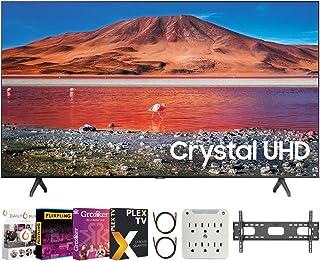 "SAMSUNG UN50TU7000 50"" 4K Ultra HD Smart LED TV (2020 Model) Bundle with Premiere Movies Streaming 2020 + 30-70 Inch TV Wa..."