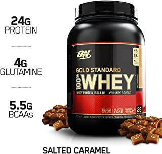 Optimum Nutrition Gold Standard 100% Whey Protein Powder, Salted Caramel, 1.8 Pounds
