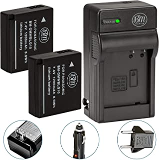 BM 2-Pack of DMW-BLG10 Batteries and Battery Charger for Panasonic Lumix DC-ZS80, DC-GX9, DC-LX100 II, DC-ZS200, DC-ZS70, DMC-GX80, DMC-GX85, DMC-ZS60, DMC-ZS100, DMC-GF6, DMC-GX7K, DMC-LX100K Cameras