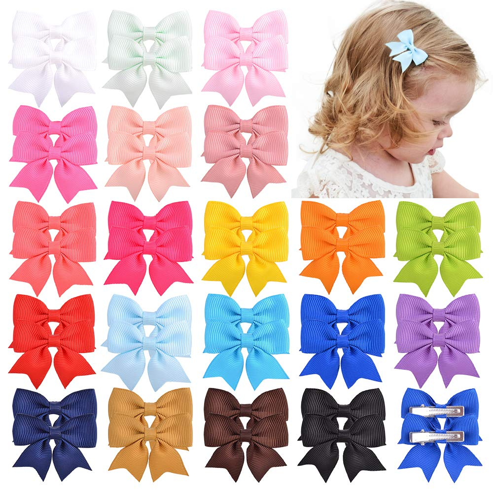 40pcs Baby Japan Max 71% OFF Maker New Girls 2inches Grosgrain Color Solid Boutique H Ribbon