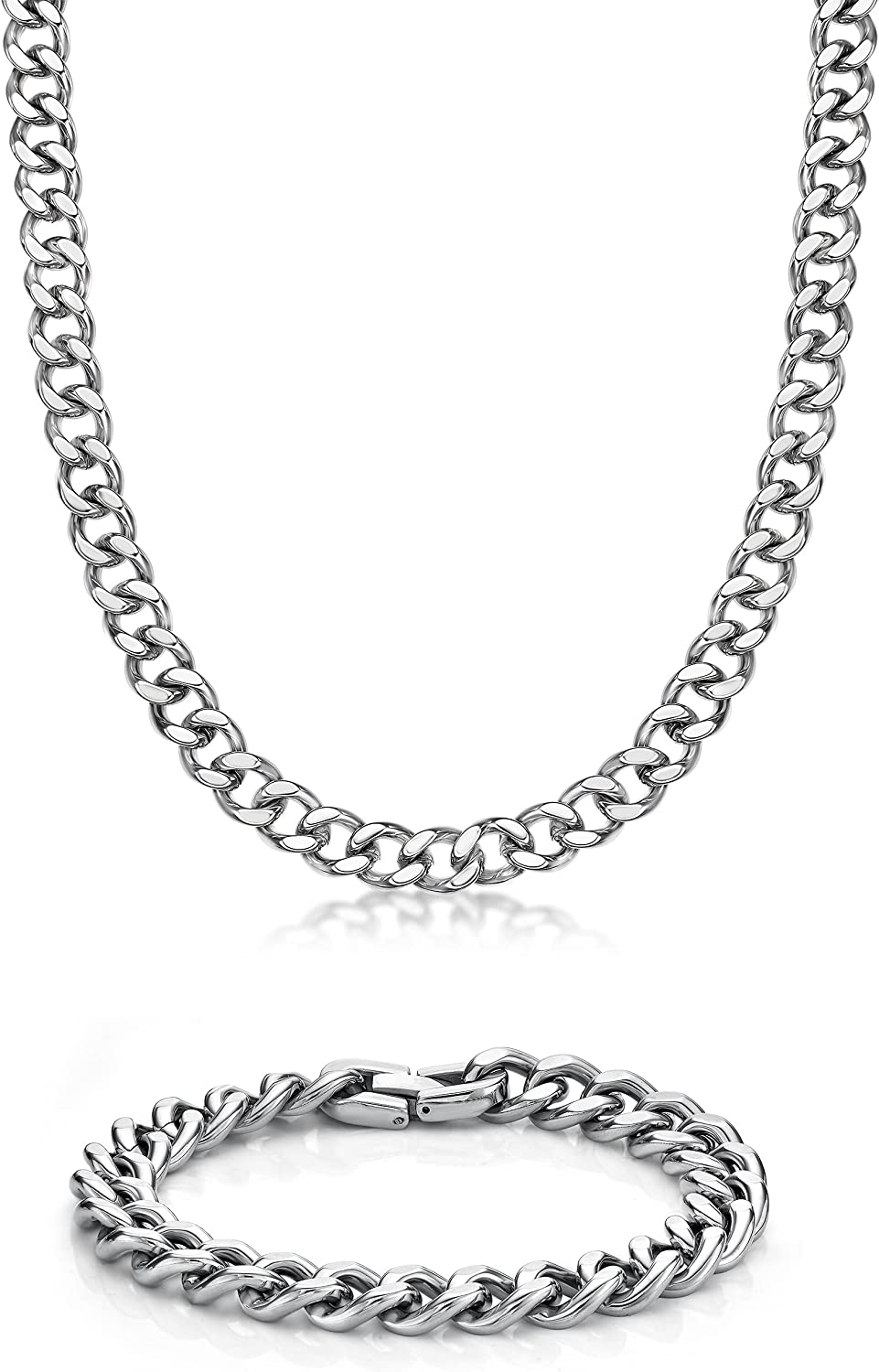 Stephanie Imports Stainless Steel Curb Chain 22