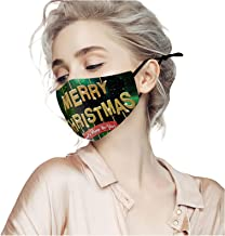 Unisex Christmas mask Face Mask Reusable Printing Mask Funny mask 1pc for Glowing Nightclub Party 1pc mask + 1pc filter