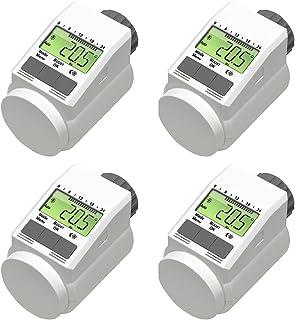 Termostatos regulables, para el ahorro de energía de los radiadores (4 unidades)