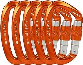 XINDA Screwgate Locking Carabiner Clip - Professional Rock Climbing Carabiner Screw Lock, Heavy Duty Carabiners for Climbing, Mountaineer, Hammock, Camping, Outdoor Equipment