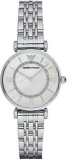 Emporio Armani Women's Watch Ar1908, Silver Band, Analog Display, 32 mm
